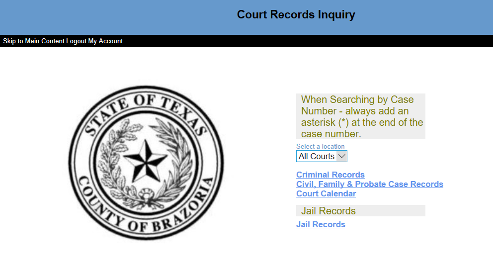 brazoria county records inquiry