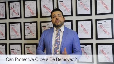 Is it possible to remove a protective order in Texas