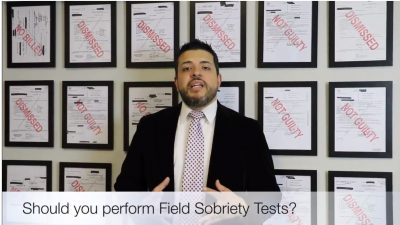 Should you do Field Sobriety Tests if asked by an Officer.