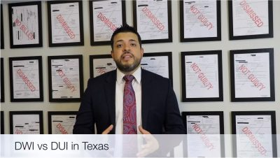The Difference Between DWI and DUI in Texas