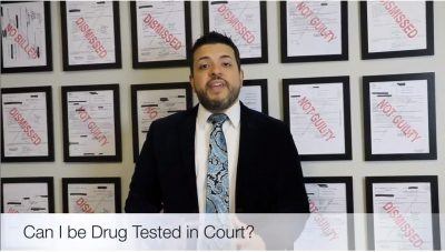 can i be drug tested in court