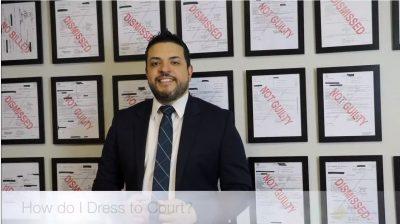 how do i dress to court